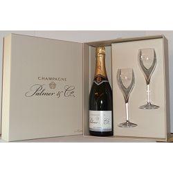 Coffret vide avec 2 Flutes champagne Palmer