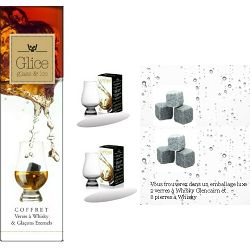 Coffret Exclusive 2 Verres + 6 Pierres à whisky