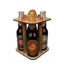 Caisse bois 4 bouteilles non montée