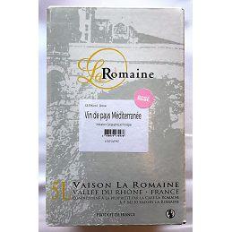 Vin de Pays Méditerranée BIB 5L rosé  La Romaine